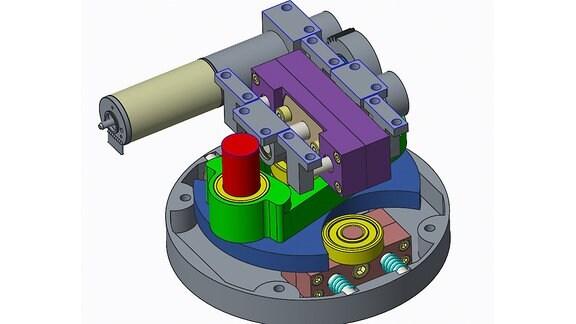 Zeichnung zeigt den Aufbau eines Roboter-Gelenks