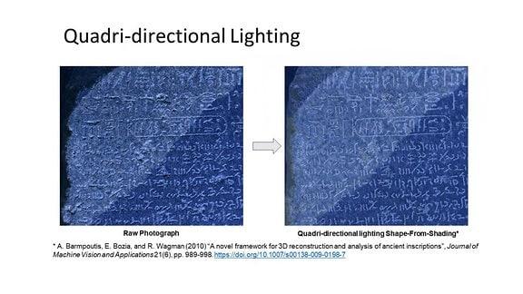 Naether, The Digital Rosetta Stone Project - vorher+nachher