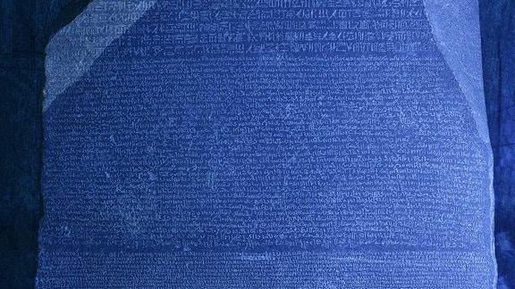 Rosetta-Stein 3D-Bild