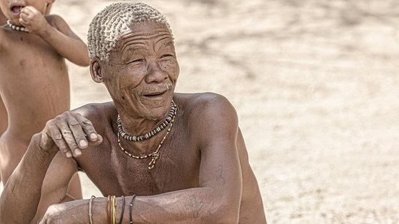Alter San Buschmann in Damaraland Namibia