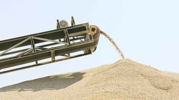 Sand-Abbau