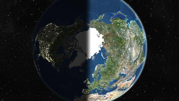 Satellitenaufnahme der Erde