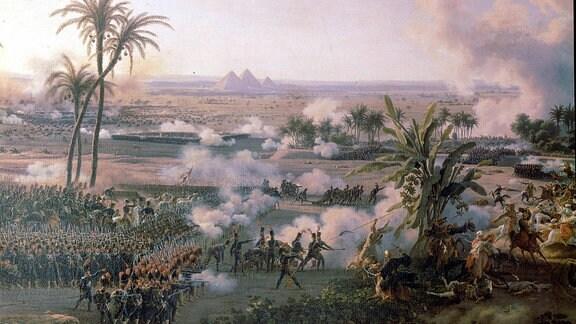 Schlacht bei den Pyramiden 1798 Napoleon Ägypten