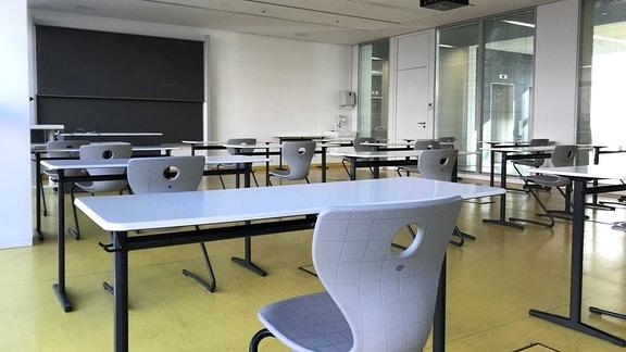 Ein leerer Seminarraum