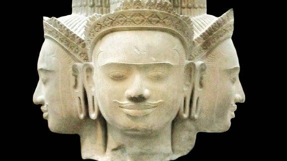 Skulptur vom Hindu-Schöpergott Brahma aus dem 10. Jahrhundert