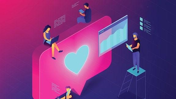 Grafik: Menschen und Computer