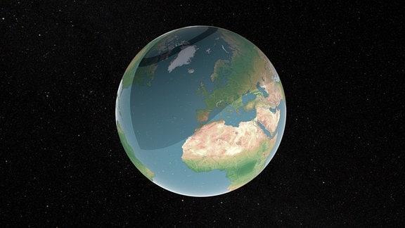 Der Globus auf schwarzem Hintergrund