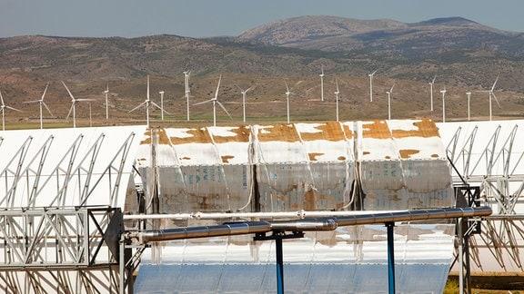 Ein Solarkraftwerk in Spanien