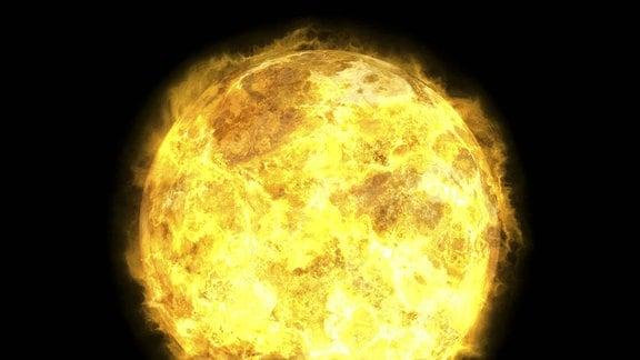Sonne im Weltall - Computergrafik
