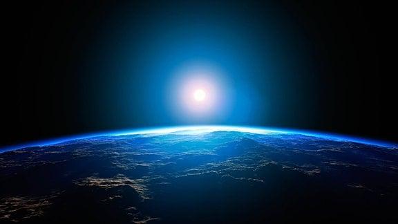 Planet im entfernten Weltall, Computergrafik-illustration