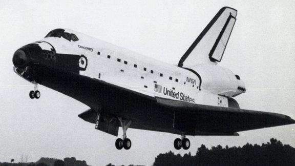Space Shuttle Discovery bei der Landung