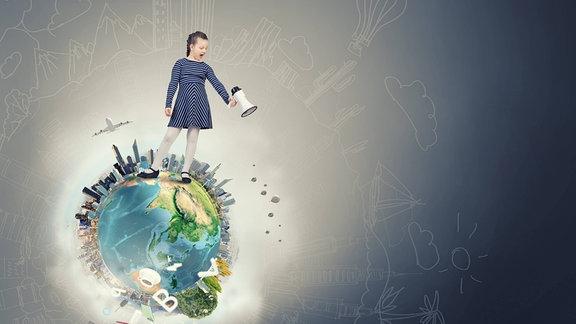 Collage zum Thema Sprache und Umwelt