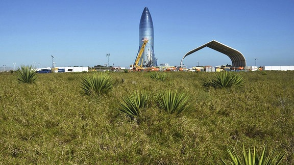 Starship der Firma SpaceX in Texas