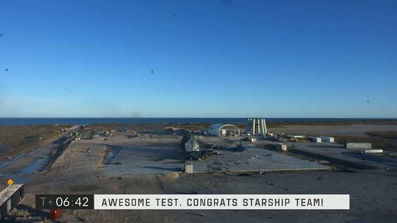 Tes des Starship SN8 von SpaceX