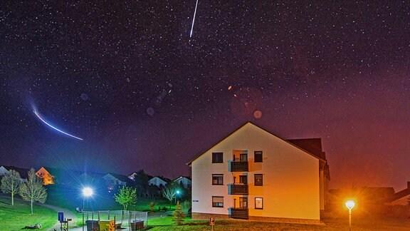 Sternschnuppen der Lyriden über Halle
