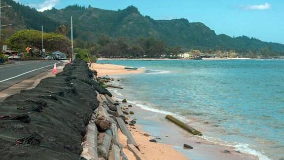 Strand mit Befestigung auf O'ahu