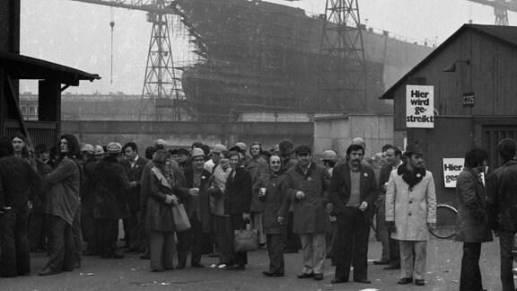 Streik der IG Metall 1974 in Bremen