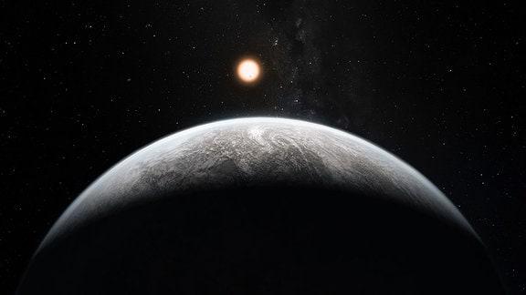 Künstler-Konzept eines Supererde-Exoplaneten