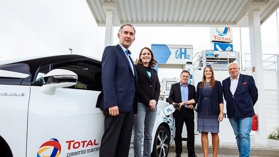 Eröffnung der Wasserstofftankstelle in Leipzig