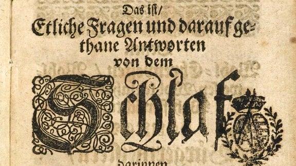 Titelblatt eines alten Buches