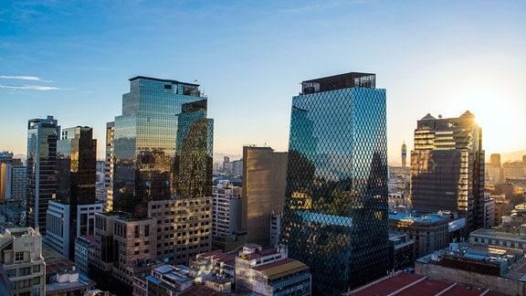 Financial District in Santiago de Chile
