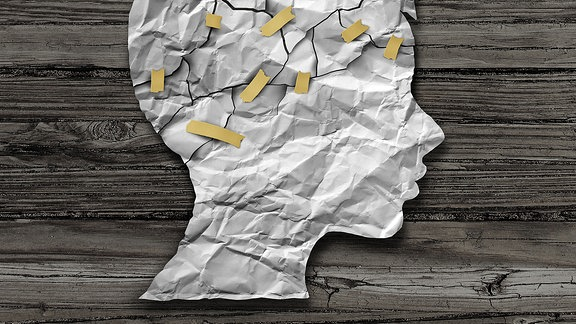 Plakative Darstellung Trauma im Gehirn
