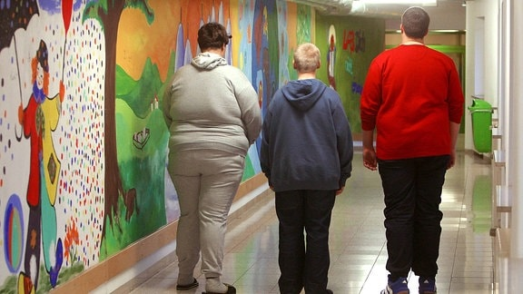 Übergewichtige Teenager in der Fachklinik für Kinder und Jugendliche in Murnau