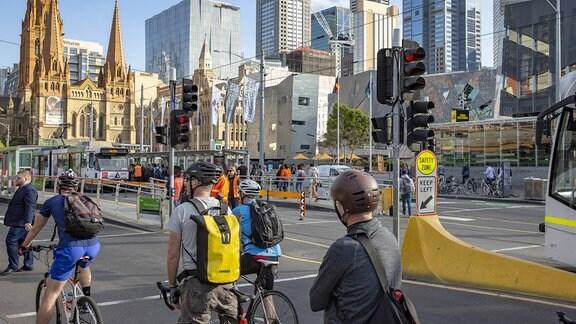 Radfahrer in Melbourne
