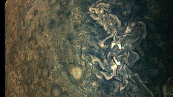 Jupiteroberfläche in hochauflösender Qualität