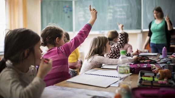 Schüler während einer Unterrichtsstunde.