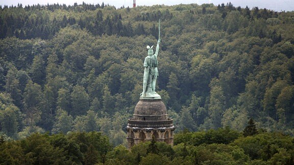 Das Hermannsdenkmal im Teutoburger Wald