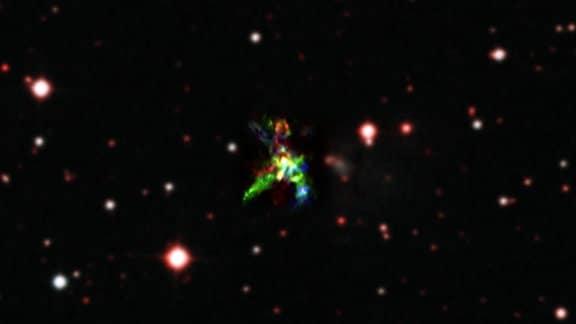 Vergrößerung der Sternentstehungsregion AFGL 5132