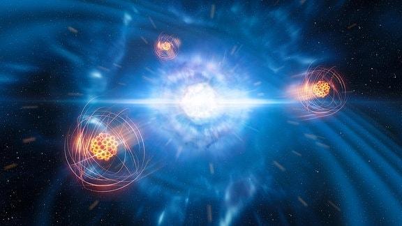 Verschmelzung von Neutronensternen