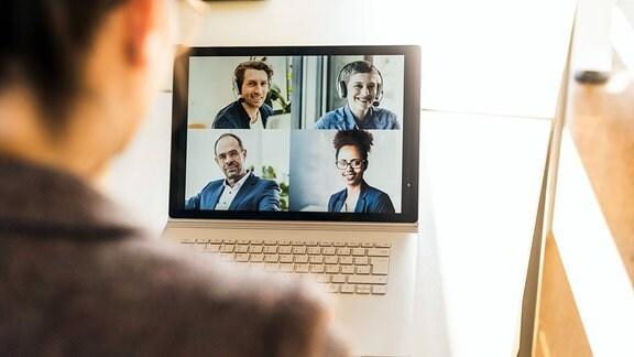 Eine Videokonferenz