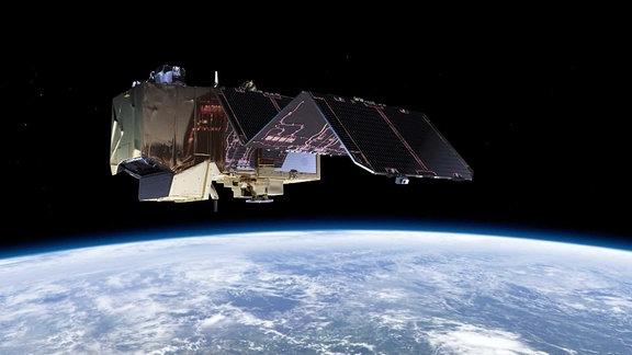 Ein Satellit im All
