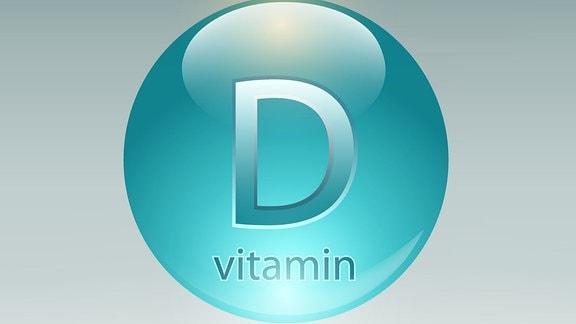Kugel mit Aufschrift 'Vitamin D'