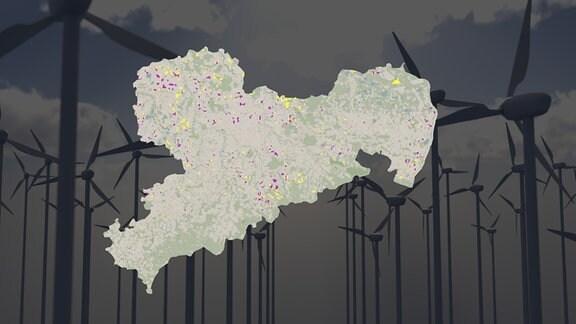 Vorschaubild Flächenpotenziale für Windkraft in Sachsen