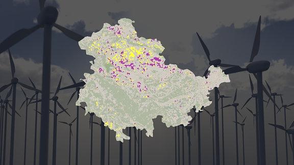 Vorschaubild Flächenpotenziale für Windkraft in Thüringen