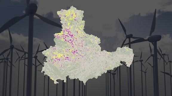 Vorschaubild Flächenpotenziale für Windkraft in Mitteldeutschland