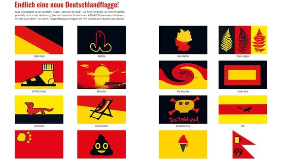 """Vorschläge für eine deutsche Flagge aus """"Spaß mit Flaggen"""""""