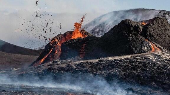 Spalteneruption auf Island