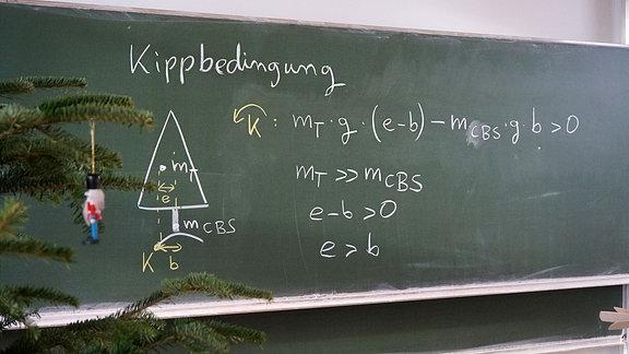 Mathematische Formeln an einer Tafel.