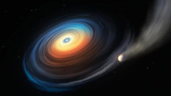 Weißer Zwerg neben Riesenplanet