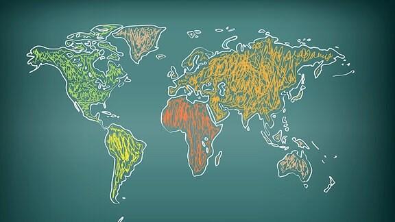 Illustration - Weltkarte