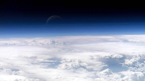 Wolkendecke der Erdatmosphäre