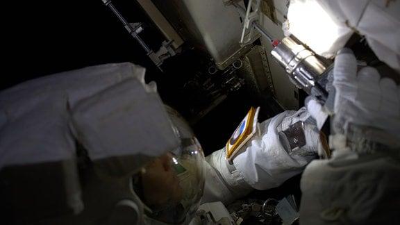 Arbeitseinsatz außerhalb der ISS.