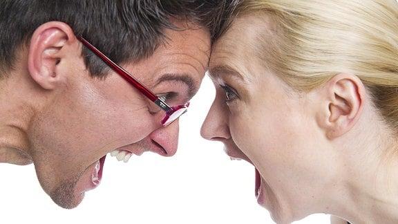 Streit zwischen einem Paar