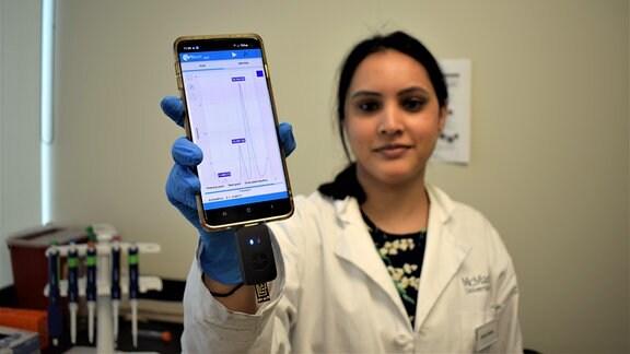 Wissenschaftlerin präsentiert Technologie für Schnell-Analyse medizinischer Proben
