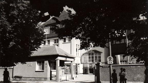 Historische Aufnahme des Marienstift-Eingangs