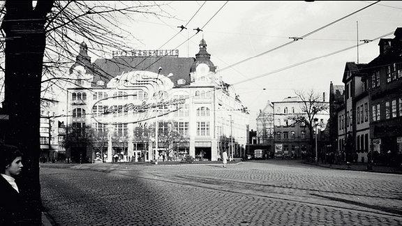 Ein Blick auf den Erfurter Anger in den Sechziger Jahren